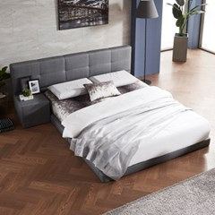 SB260 저상형 모던 패브릭 침대(협탁포함) +bedis 101 K matt