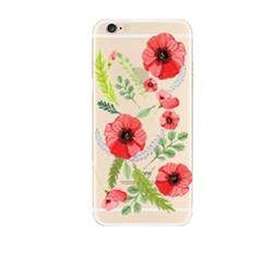 Watercolor Red Flower (JF-040A) Jelly Case