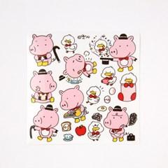 [또자] 신사 돼지 스티커 (10장)