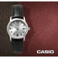 카시오 CASIO LTP-V002L-7B 여성용 가죽밴드 아날로그시계