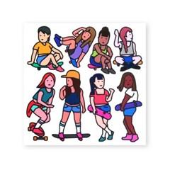 스케이트 보드 스티커 - girls