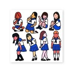 교복 스티커 - girls