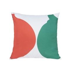 누키트 어니언볼즈 쿠션 (scarlet/green) (50x50)