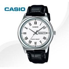 카시오 CASIO MTP-V006L-7B 남성용 가죽밴드 아날로그시계