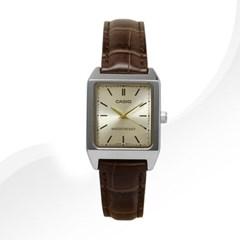 카시오 LTP-V007L-9E 여성용 가죽밴드 아날로그시계