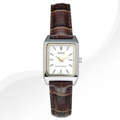 카시오 CASIO LTP-V007L-7E2 여성용 가죽밴드 아날로그시계