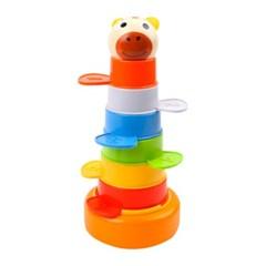 탑브라이트 무지개 동물 컵 쌓기 장난감