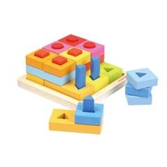 탑브라이트 레인보우 도형 블럭퍼즐 장난감