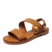 kami et muse Wide leather strap flat sandals_KM18s402