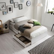 [잉글랜더]플레인 서랍형 침대(양모 라텍스 9존 독립스_(11849228)