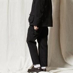 PL047_Coduroy Banding Pants_BLACK