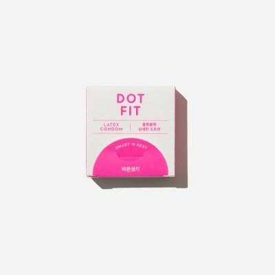 바른생각 콘돔 도트핏 3개입