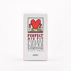 [키스해링 에디션] 바른생각 콘돔 퍼펙트에어핏 12개입