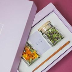 리로라 꽃차 선물세트 - 메리골드, 카네이션