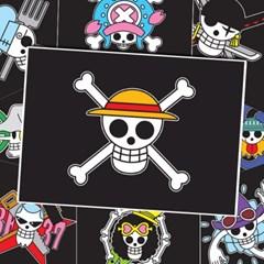 원피스 해적기 포스터 - 밀짚모자해적단 9종