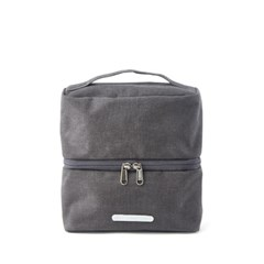 PACK DOUBLE POUCH 131 WAXED CANVAS CHARCOAL_(581910)