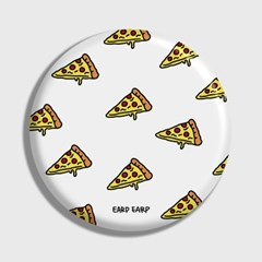 [어프어프] 손거울 Cheese pizza-white