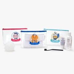 카카오프렌즈 마린프렌즈 PVC 투명파우치세트_(3761730)