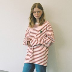 [FW18 Peanuts] Stripe Roundneck Long Sleeve(Red)_(640740)