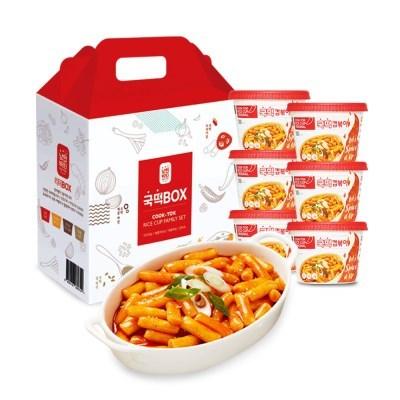 [추억의 국민학교 떡볶이] 국떡 컵볶이 오리지널 선물박스6EA