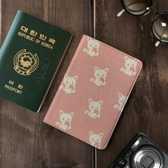 안티스키밍 여권지갑 / 분홍 실뭉치