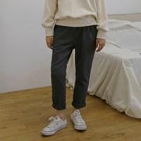[MONDAY STUDIO] Daily banding wool slacks