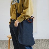 Casual leather grip cross bag