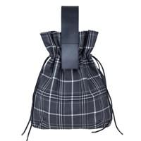 Plaid Drawstring Bag