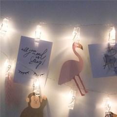 LED 사진집게 가렌드