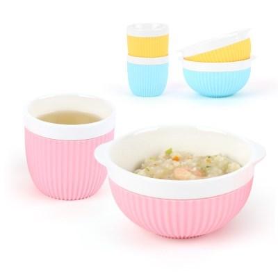 투데코 실리콘 커버 도자기 컵&공기 세트(파스텔)