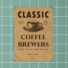 유니크 크라프트 인테리어 디자인 포스터 M 커피 앤 바4 카페