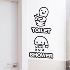 포인트 화장실 욕실 스티커 해피룸