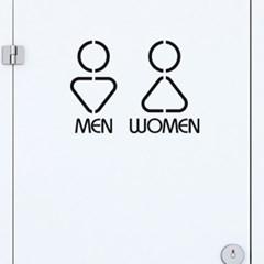 포인트 화장실 스티커 토이콘