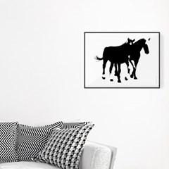 포스터 액자 TWO HORSES 40X30cm