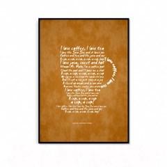거실 주방 커피 인테리어 액자_커피레터