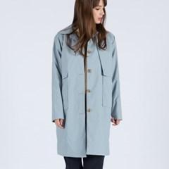WOMENs TAKESADA MINIMAL MAC COAT (GREYISH BLUE)