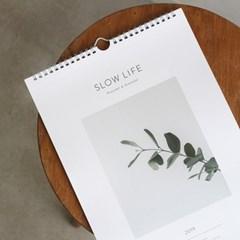 2019 Slow life wall calendar - 슬로우라이프 벽걸이캘린더