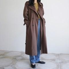 Natural mood trench coat