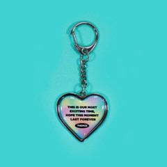 HEART STEEL KEY HOLDER_FOREVER