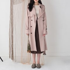 basic double button trench coat