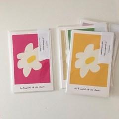 flower postcard set