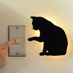 블랙고양이 월데코 LED 조명 램프