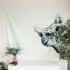 태피스트리 벽장식 패브릭 포스터 - 고양이 (150x130cm)