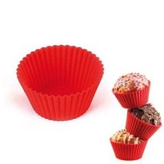 컵케익 실리콘몰드 6개 1SET 레드 원형