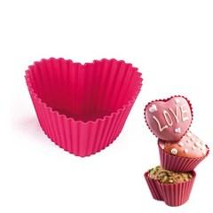 컵케익 실리콘몰드 6개 1SET 핑크 하트