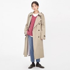 overfit cotton trench coat_(1044342)
