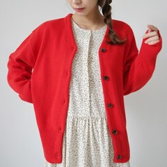 Wool bulky cute cardigan