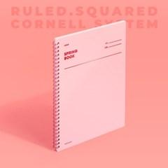 [모트모트] 스프링북 - 로즈쿼츠 (룰드/스퀘어드/코넬시스템) 1EA