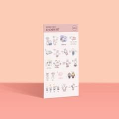 ☆모트모트와 함께하는 기말☆ 꽁쀼 스티커 NO. 1-6
