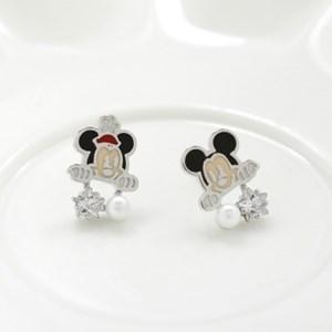 [Disney]미키미니_큐빅펄귀걸이